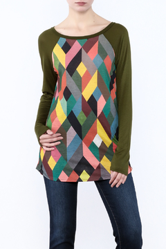 Shoptiques Product: Geometric Olive Shirt