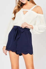 Style Trolley Bri Scalloped Shorts - Product Mini Image