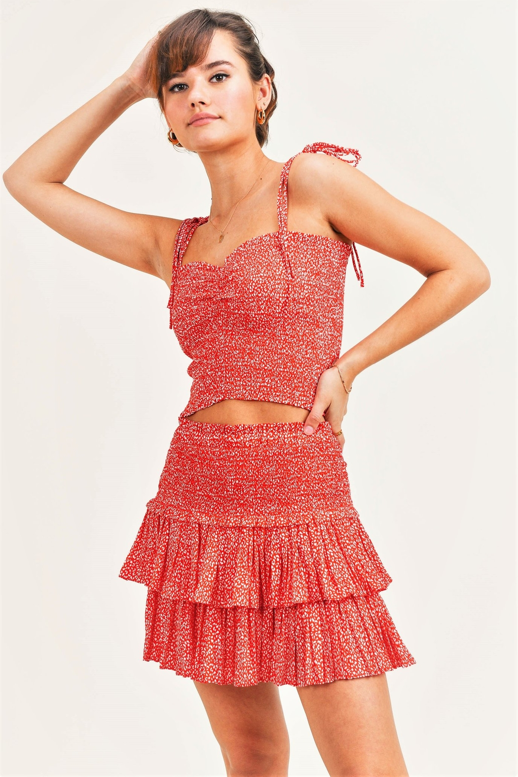 Reset By Jane  Bri Smocked Skirt - Front Cropped Image