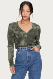 Michael Stars Briann Tie Dye Thermal - Front cropped