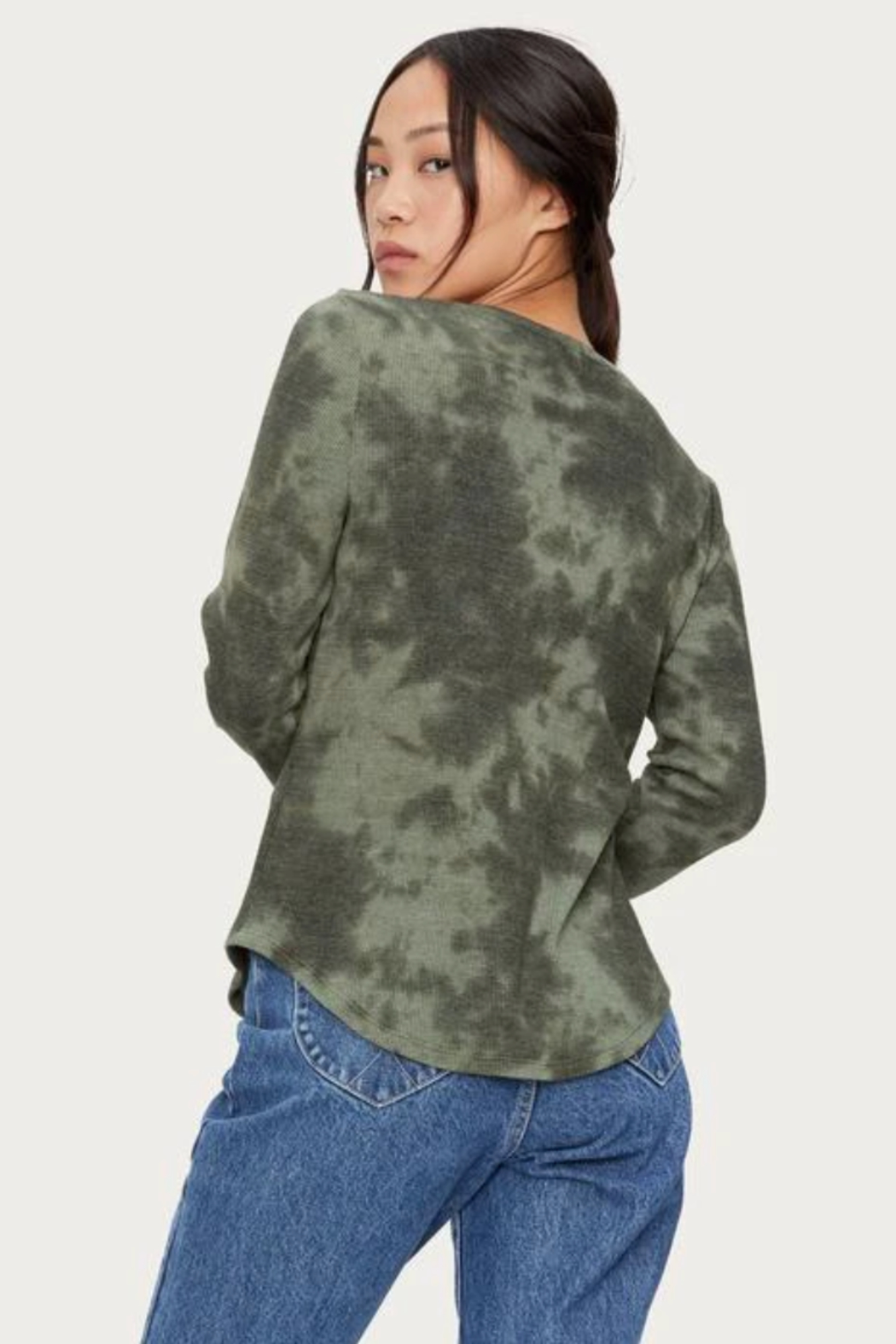 Michael Stars Briann Tie Dye Thermal - Back Cropped Image