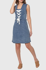 Lola Jeans Brianna Side Zip Denim Dress - Product Mini Image