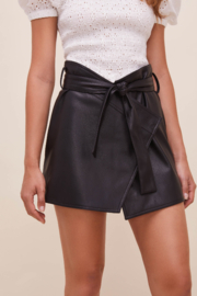 ASTR the Label Briar Faux Leather Skirt - Front cropped