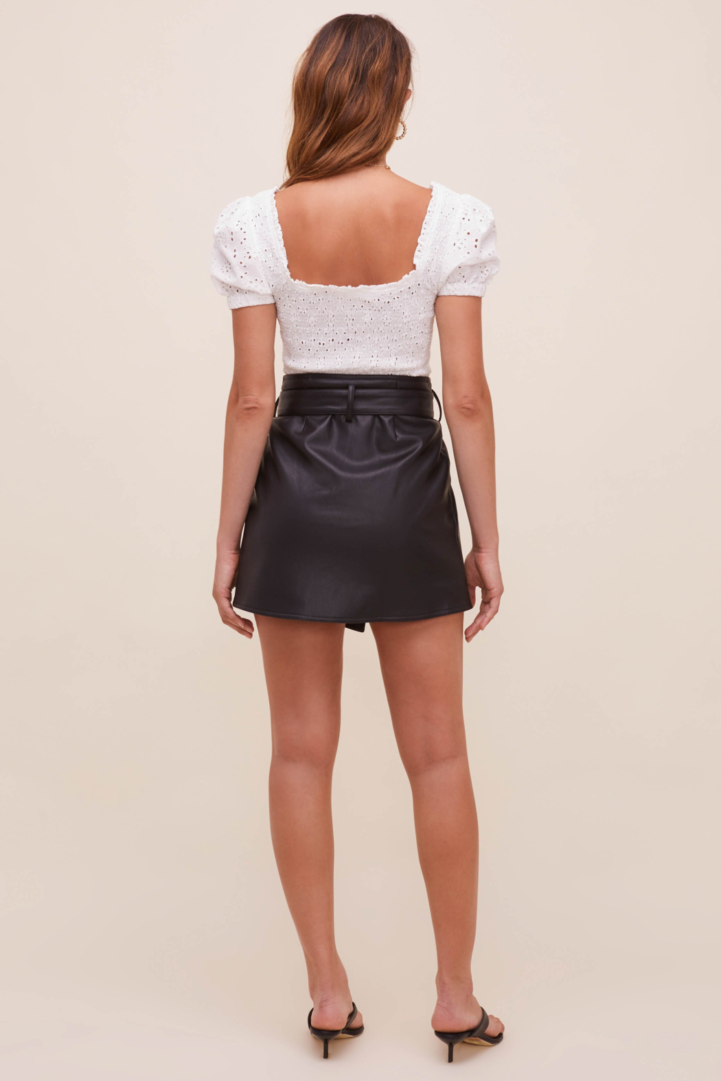 ASTR the Label Briar Faux Leather Skirt - Side Cropped Image