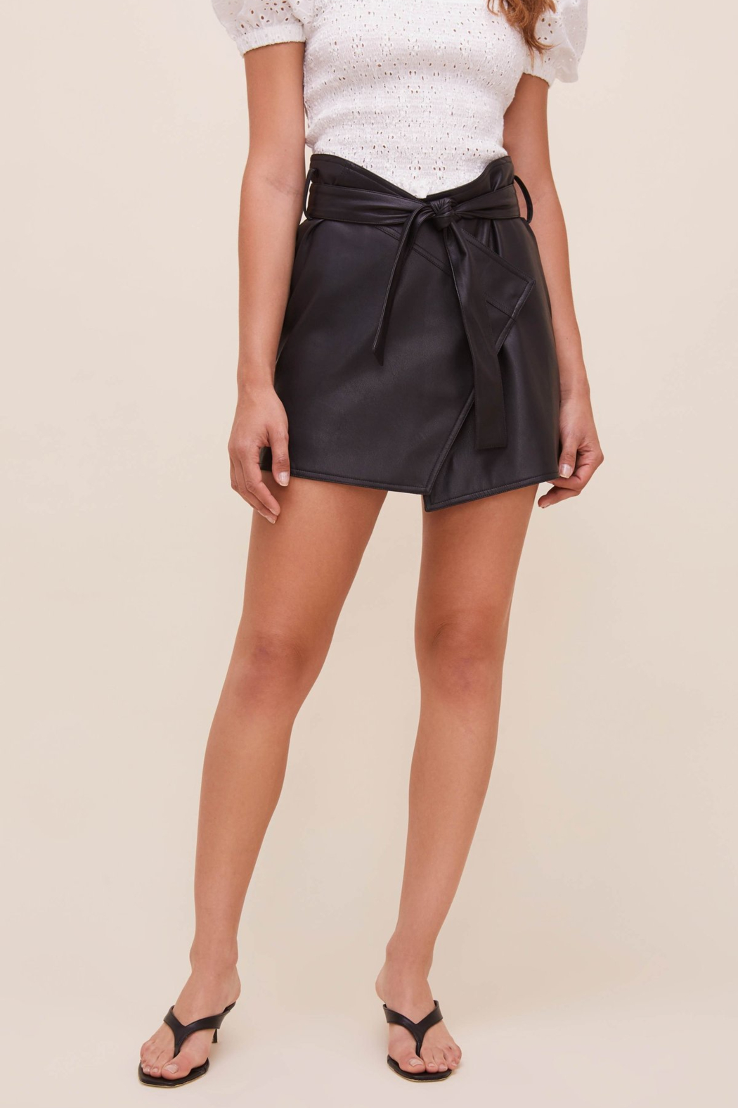 ASTR the Label Briar Faux Leather Skirt - Front Full Image