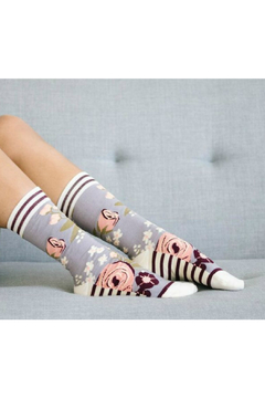 Woven pear Briar Rose socks - Product List Image
