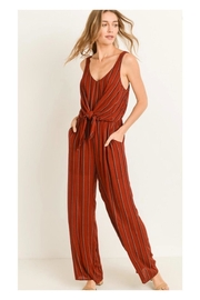 Polly & Esther Brick Stripe Jumpsuit - Product Mini Image