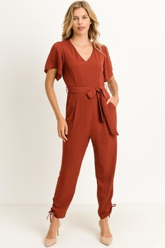 Shoptiques Product: Brick V-Neck Jumpsuit