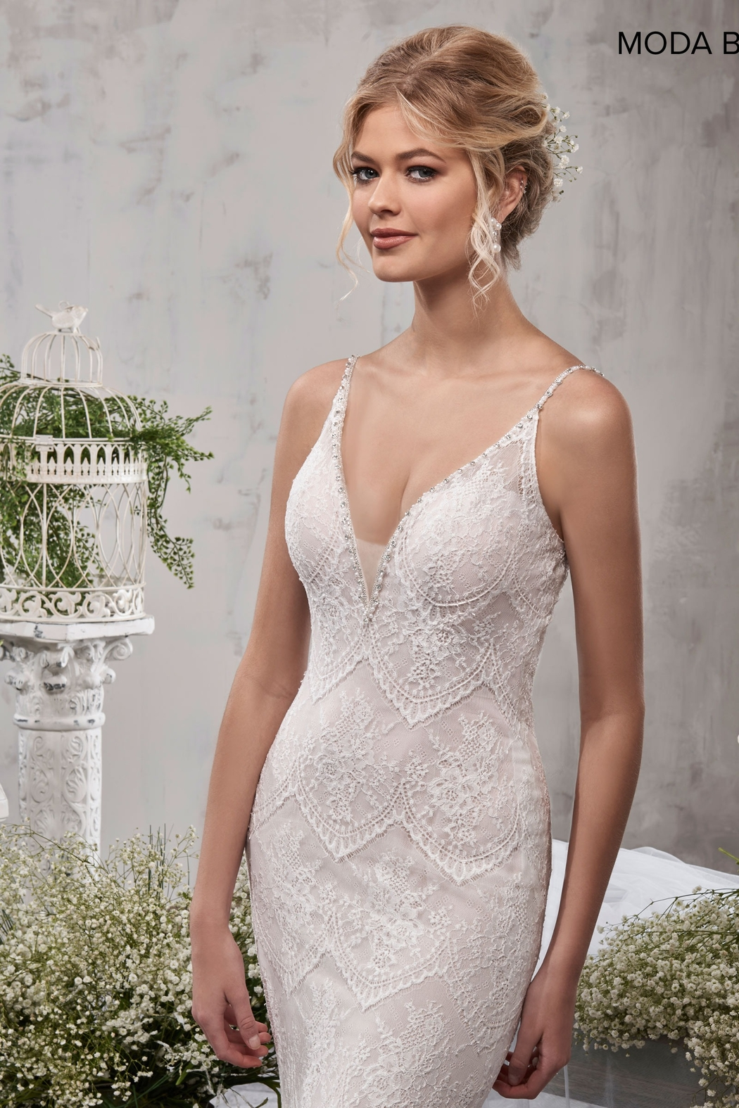 Mary's Bridal Bridal Dress in Ivory - Side Cropped Image