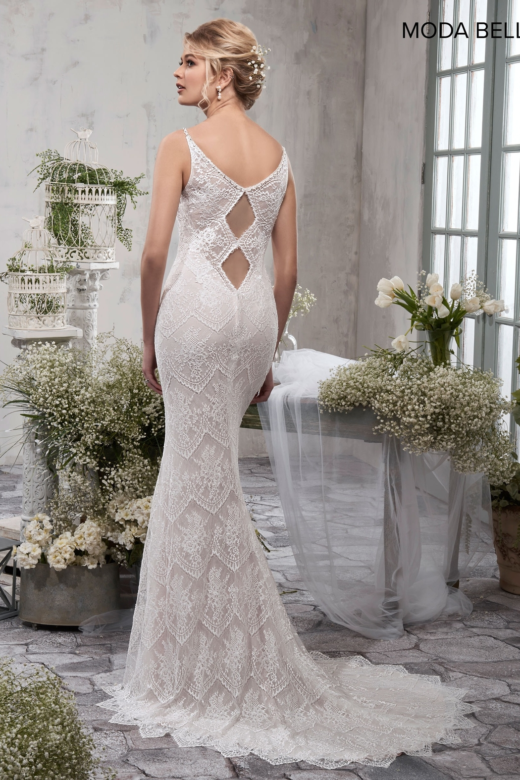 Mary's Bridal Bridal Dress in Ivory - Front Full Image