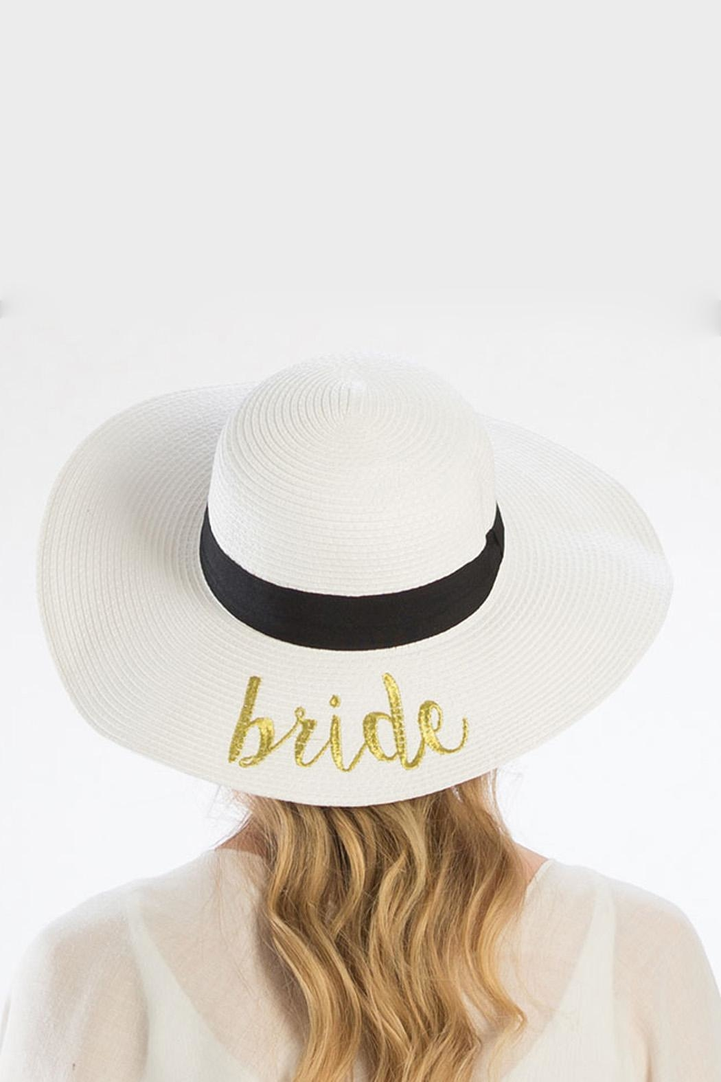 Wild Lilies Jewelry  Bride Floppy Hat - Front Full Image