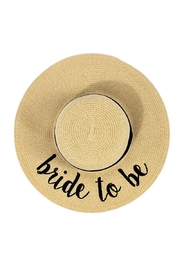 C.C. Bride-To-Be Natural Hat - Product Mini Image
