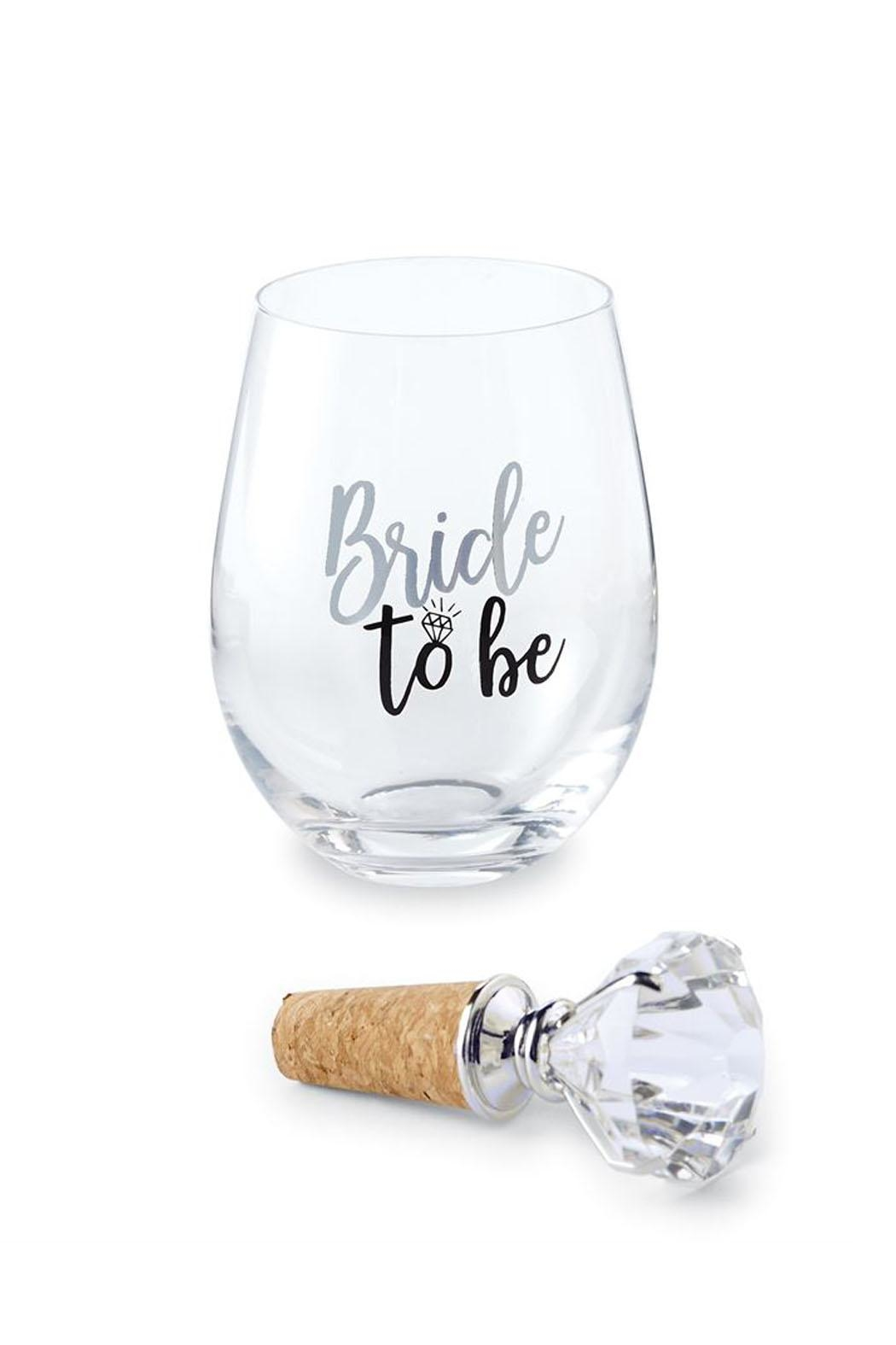 Mud Pie Bride Wine Glass - Front Cropped Image