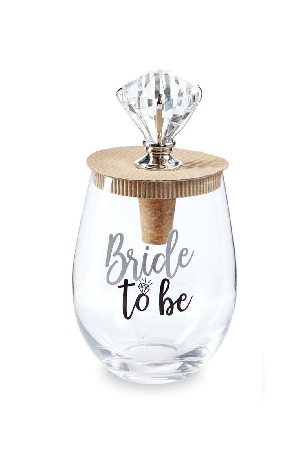 Mud Pie Bride Wine Glass - Front Full Image