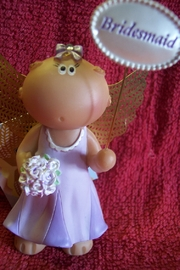Russ Berrie Bridesmaid Angel Cheek - Front cropped