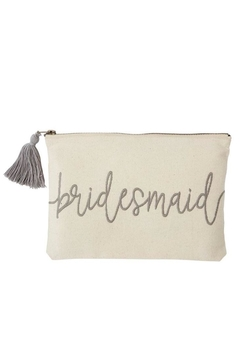 Mud Pie Gift Bridesmaid Canvas Pouch - Alternate List Image