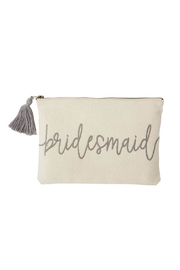 MUDPIE Bridesmaid Canvas Pouch - Front cropped