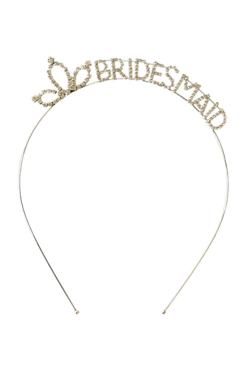 Scarborough Fair Bridesmaid Rhinestone Headband - Front Cropped Image