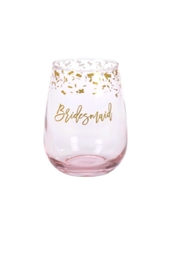CR Gibson Bridesmaid Stemless Wineglass - Product Mini Image