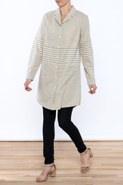 Bridge & Burn Long Striped Shirt - Front full body