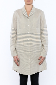 Bridge & Burn Long Striped Shirt - Side cropped