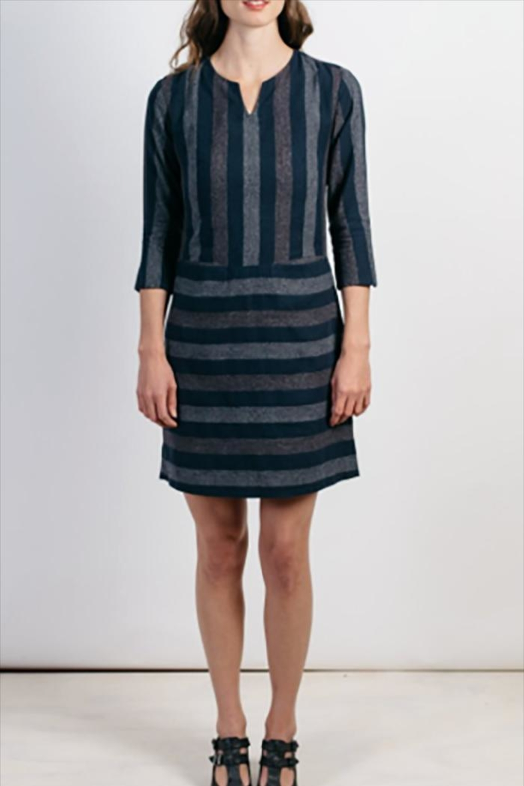 Bridge & Burn Caroline Dress Navy - Front Full Image
