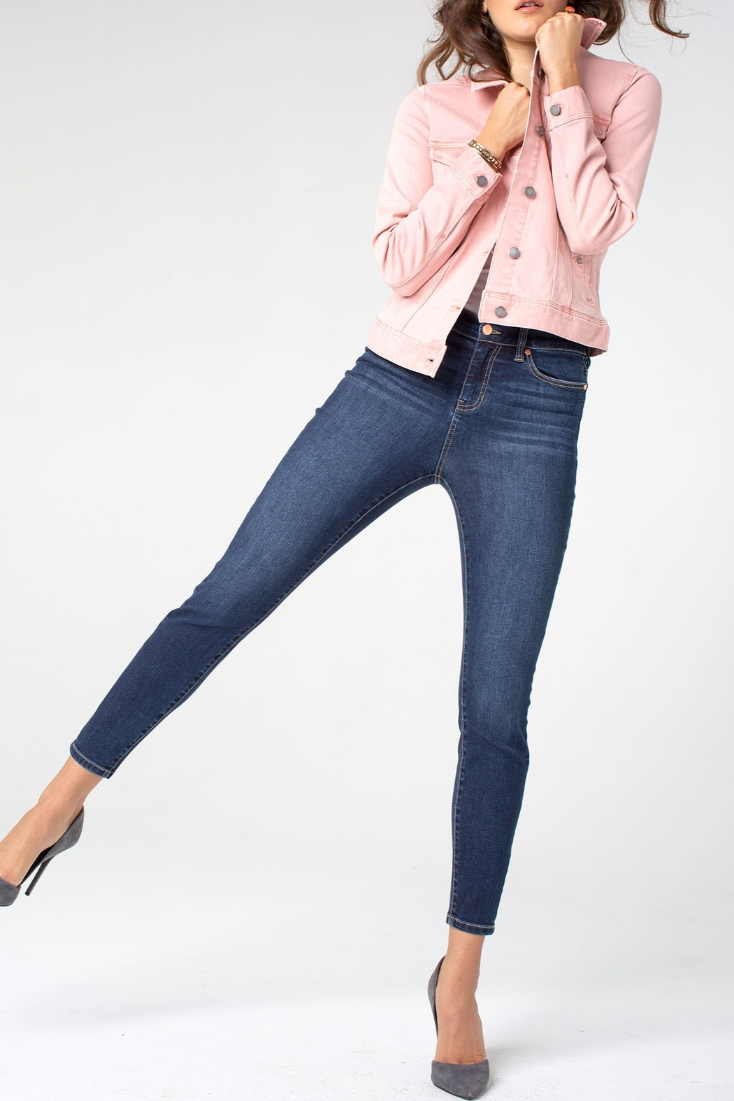 Liverpool Bridget High-Rise Ankle Skinny - Back Cropped Image