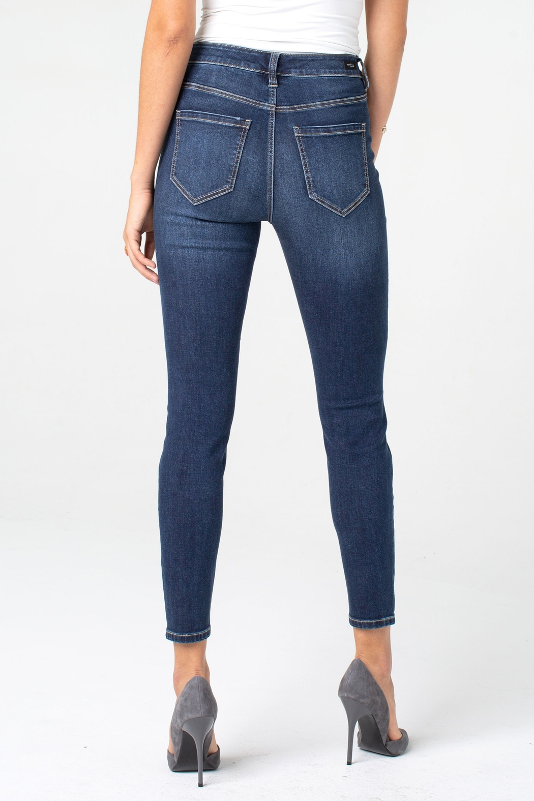 Liverpool Bridget High-Rise Ankle Skinny - Front Full Image