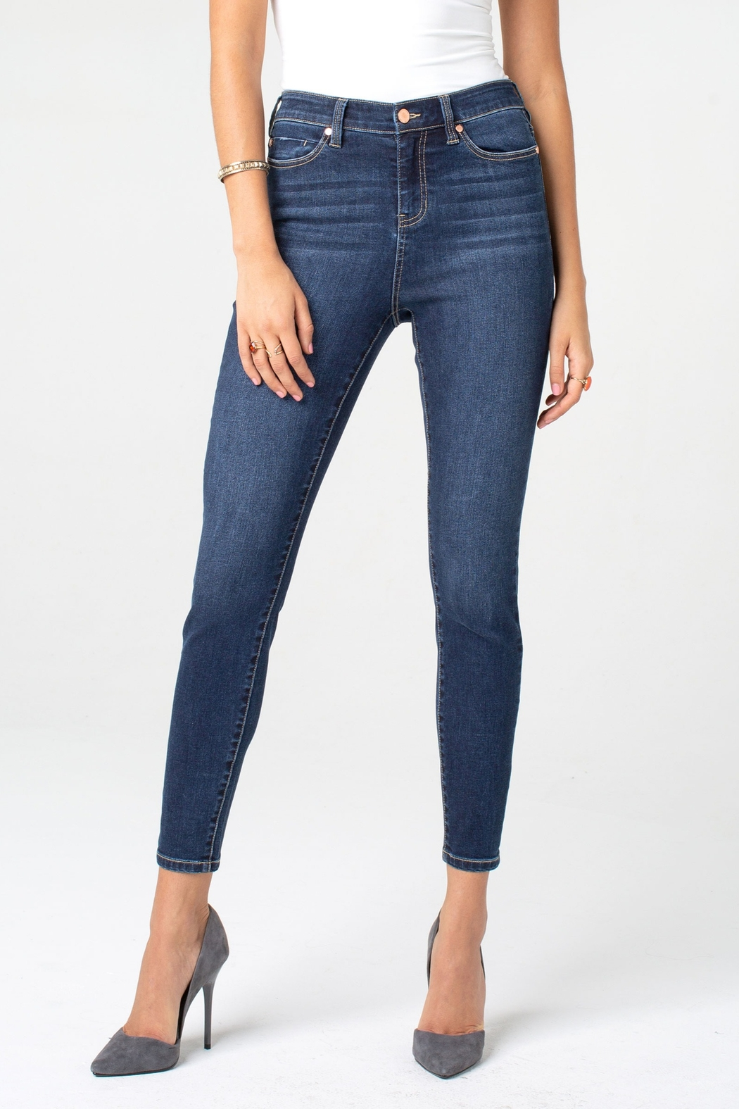 Liverpool Bridget High-Rise Ankle Skinny - Front Cropped Image