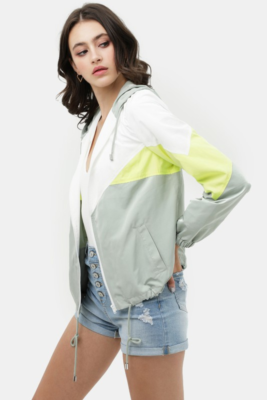 R+D  Brigette Windbreaker Jacket - Front Full Image