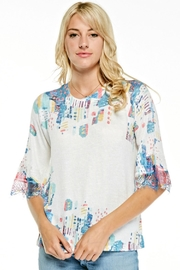 Inoah Bright Abstract Top - Product Mini Image