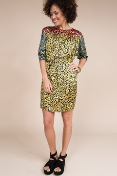 Ivy Jane  Bright Animal Print 3/4 Sleeve Dress - Product List Image