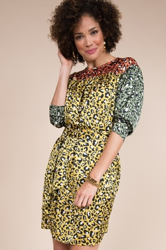Ivy Jane  Bright Animal Print 3/4 Sleeve Dress - Alternate List Image