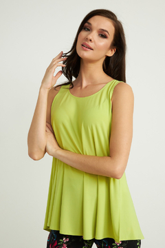 Joseph Ribkoff  Bright, beautiful buttons up the back tank top. - Product List Image