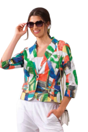 Alison Sheri Bright Color Jacket - Front cropped