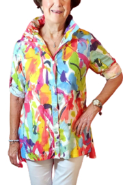 Toofan Bright Color Splash Blouse - Product Mini Image