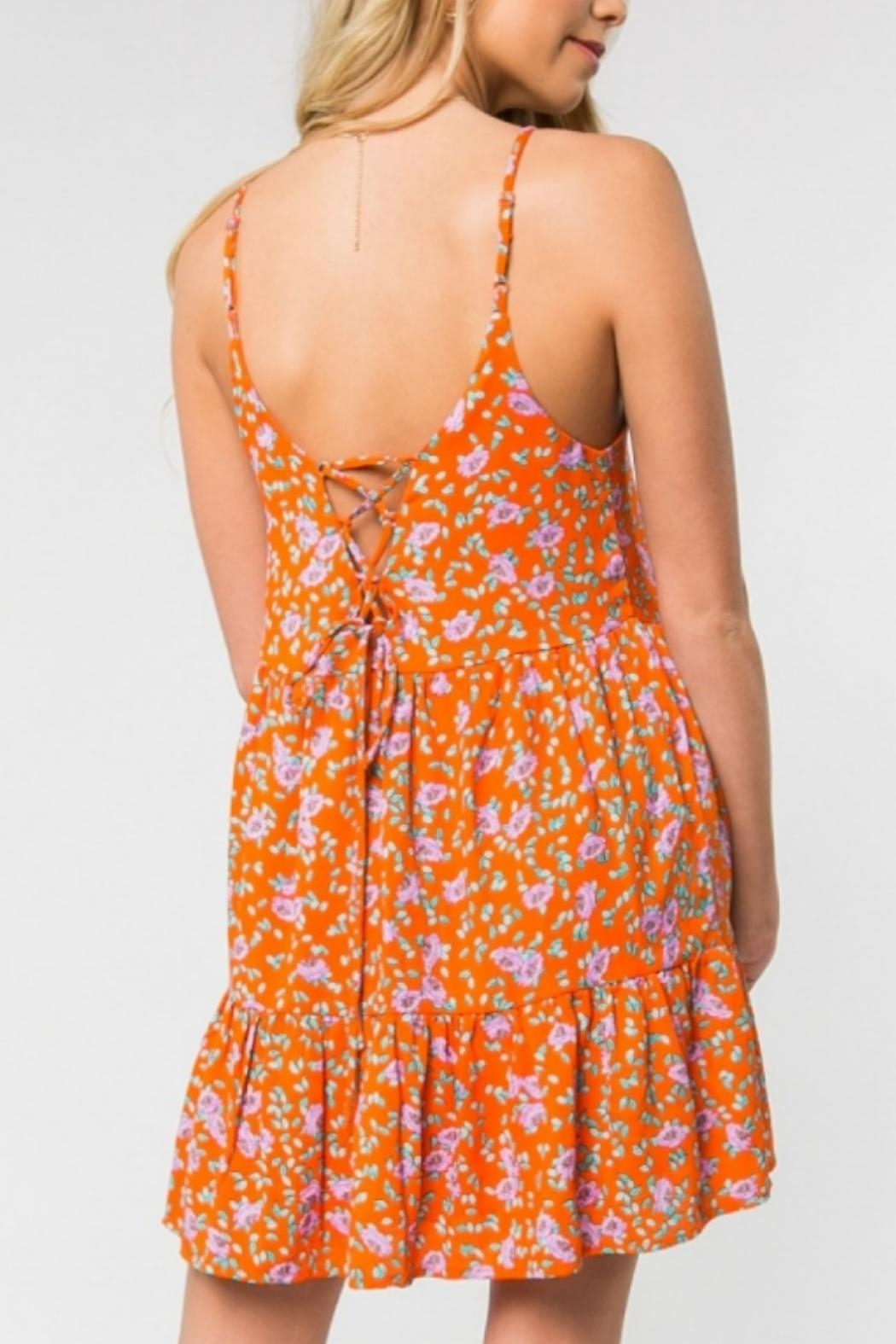 ALB Anchorage Bright Floral Sundress - Back Cropped Image