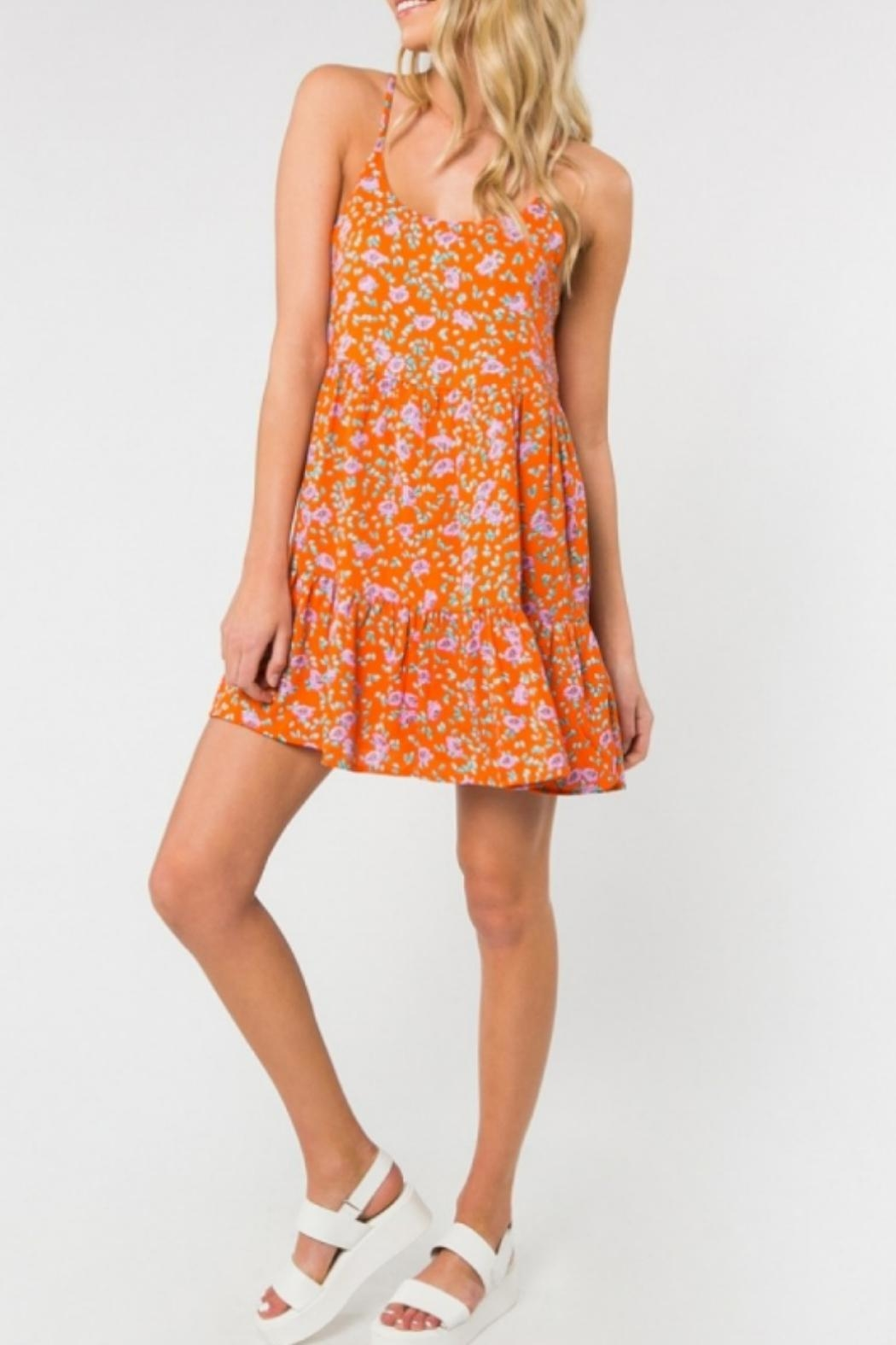 ALB Anchorage Bright Floral Sundress - Side Cropped Image