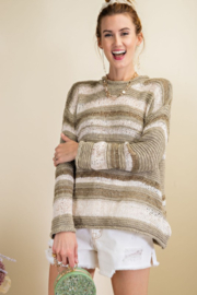 Easel  Bright Lights Color Blocked Sweater - Product Mini Image