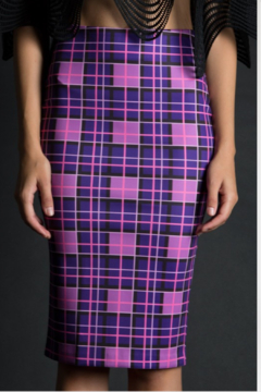 BEULAH STYLE Bright Plaid Pencil Skirt - Product List Image