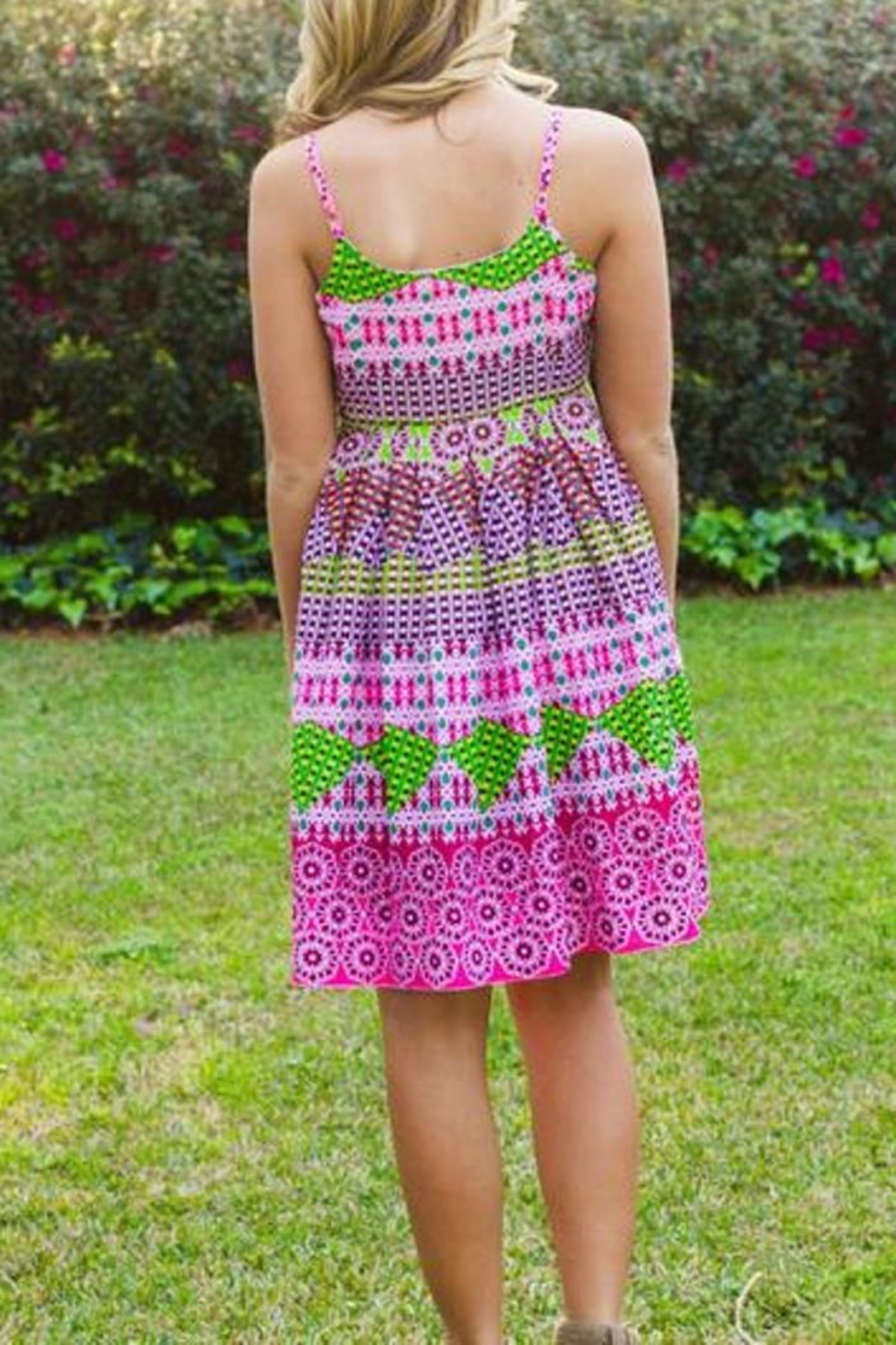 Uncle Frank Bright Printed Sundress - Front Full Image