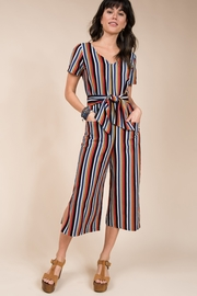 Ivy Jane Bright Stripe Cropped Jumpsuit - Product Mini Image