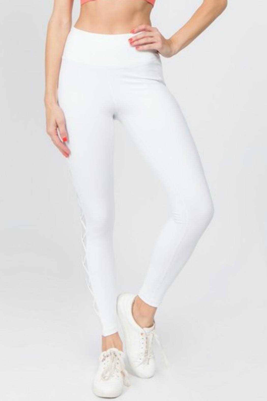 Imagine That Bright White Leggings - Front Full Image