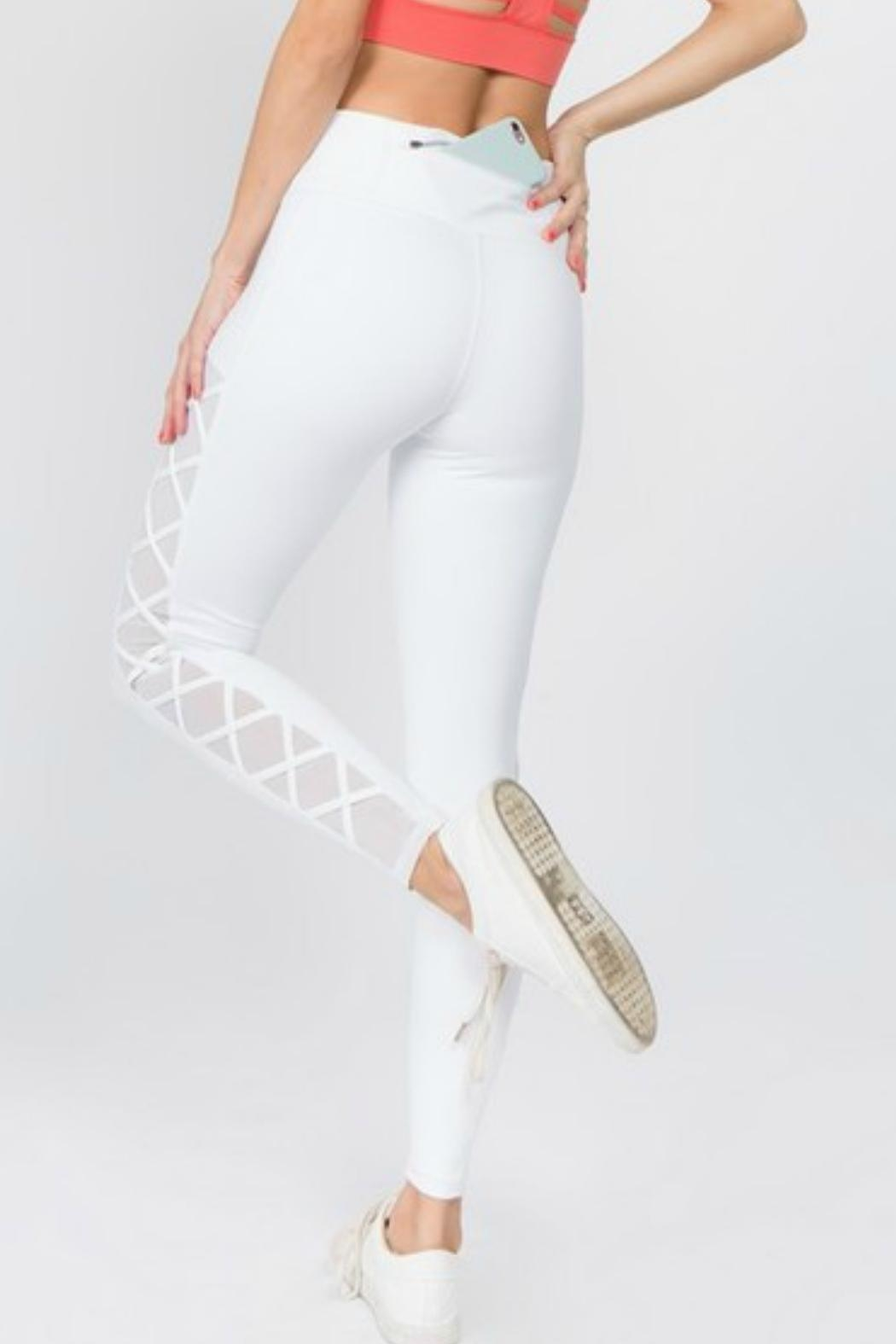 Imagine That Bright White Leggings - Side Cropped Image