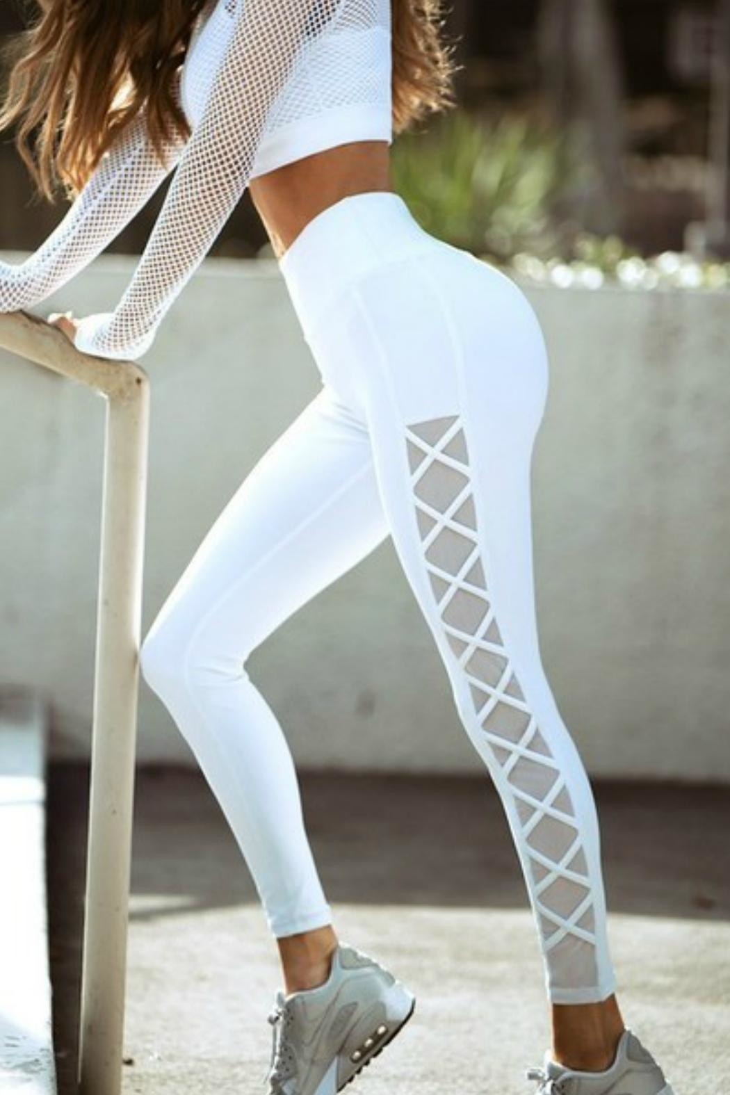 Imagine That Bright White Leggings - Main Image