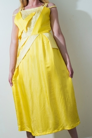 Dawn Sunflower Bright Yello Dress - Back cropped