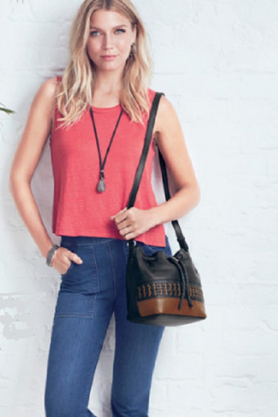 Brighton Annan Crossbody Bucket - Side Cropped Image