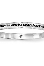 Brighton Footprints Hinged Bangle jb0962 - Front cropped