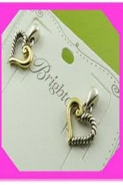 Brighton Kindred Heart Post Earrings - Front full body