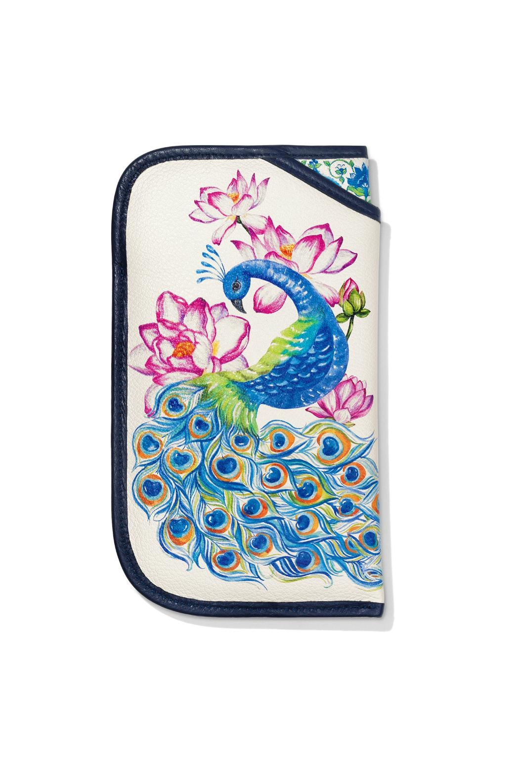 Brighton Peacock Double-Eyeglass Case - Side Cropped Image